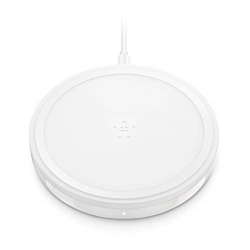 Belkin Boost Up Bold - Cargador inalámbrico (para iPhone XS, XS MAX, XR/Samsung Galaxy S10, S10+, S10e, Note9 y Dispositivos LG, Sony y otros, 10 W) Blanco