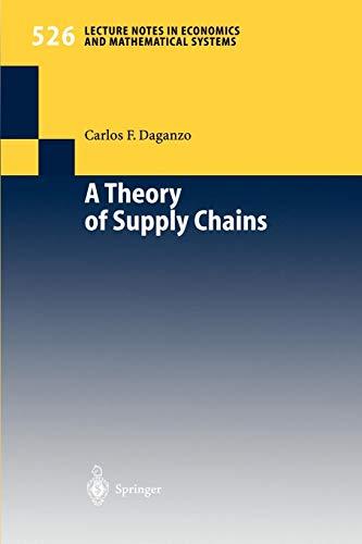 A Theory of Supply Chains (Lecture Notes in Economics segunda mano  Se entrega en toda España