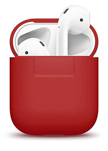 elago Protettiva Custodia in Silicone Compatiblile con Apple AirPods 1 & 2 (LED anteriore Non Visibile) - [Extra Protezione Cover] [Inserimento Perfetto] - Rosso