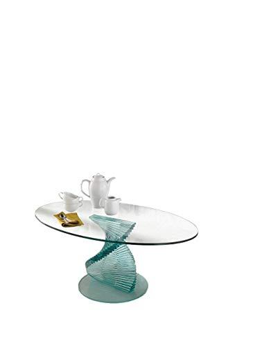Qriosa stile italiano fancy tavolino basso in vetro curvo