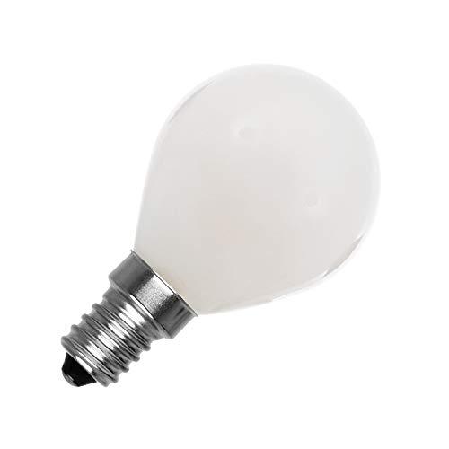 Bombilla LED E14 G45 Esférica Glass 4W Blanco Frío 6000K-6500K