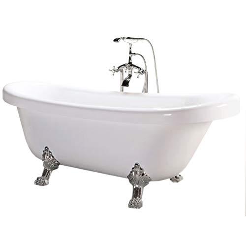 Vasca epoca stile retrÓ modello margherita elisabettiana vintage piedini cromati argento bagno