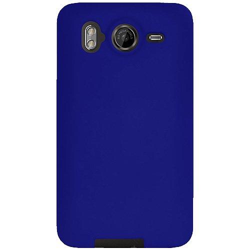 Amzer Jelly Case Coque silicone pour HTC Desire HD Bleu (Import Royaume Uni)