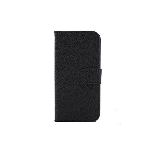 Litchi Motif PU protection en cuir de couverture de cas pour l'iPhone 6 marron