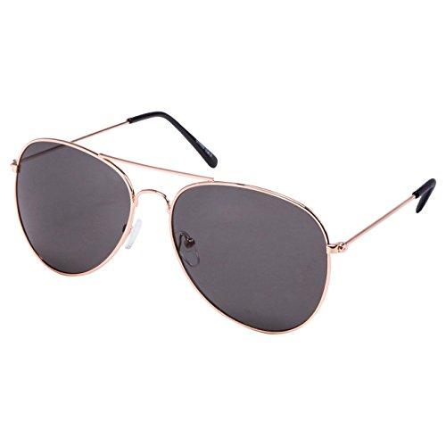 Ciffre EL-Sunprotect® Pilotenbrille Fliegerbrille Sonnenbrille Brille Top Design Gold Smoke