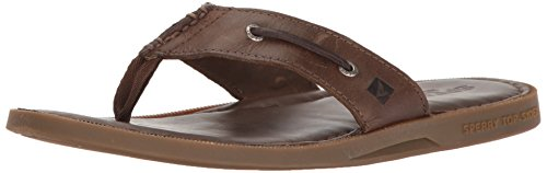 Thong Männer Sperry Topsider (Sperry Top-Sider Men's a/o Sandal Thong (Box) Flip Flop, Dark Brown, 7 M US)