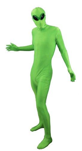 Imagen de ilovefancydress  disfraz de extraterrestre ajustado, incluye gafas, talla m xl, unisex , color rojo o verde