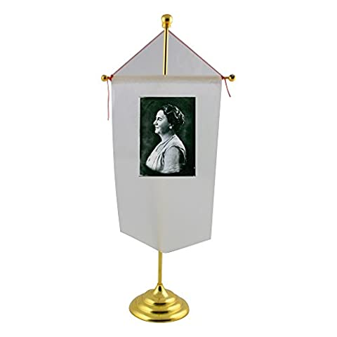 Table flag with Vintage photo of Queen Wilhelmina, 1930.