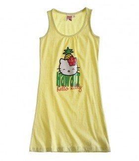 t verschiedenen Trägern im Sommerlook, 3 Varianten, 4 Größen, Farbe:gelb;Größe:128 (Hello Kitty Damen Kleid)