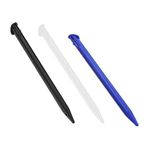 PPX 3 Stücke Bunte Kunststoff Ersatz Touchscreen Stylus Pen, kompatibel mit Nintendo New 3DS XL, New 3DS LL