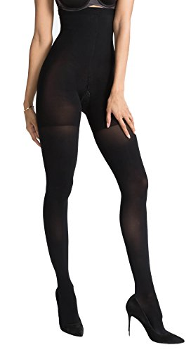 Spanx Luxe Leg Hoch-taillierte Strumpfhosen (B-Small, Black) (Spanx-nylon-strumpfhosen)
