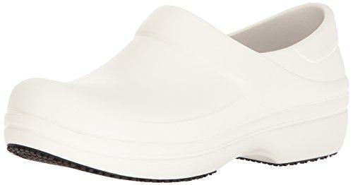 Crocs Neria PRO Clog W, Scarpe da Lavoro Donna, Bianco (White), 38-39 EU
