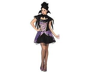 Atosa 26472 - traje de vampiro para las mujeres, tamaño 38/40, negro/púrpura