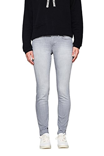 edc by ESPRIT Damen Skinny Jeans 998CC1B808, Grau (Grey Light Wash 923), W28/L30 Preisvergleich