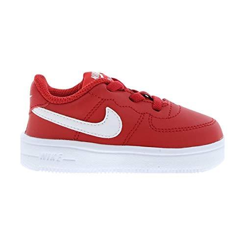 official photos ba19e bb53d Nike Force 1  18 (TD), Zapatillas de Baloncesto Unisex niño, Rojo
