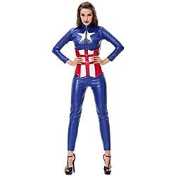 GGTBOUTIQUE - Vestido - trapecio - para mujer multicolor Medium
