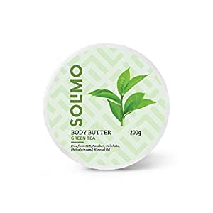 Amazon Brand - Solimo Body Butter - Green Tea - 200 gms