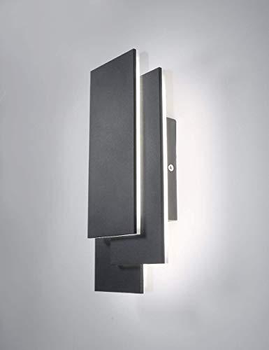 K-Bright 24W Moderne Appliques Murales LED,Blanc naturel Interieur LED Lampe,IP20,Gris foncé