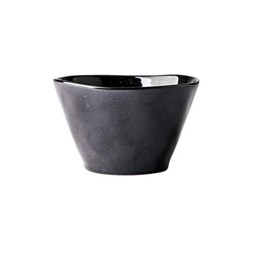 YYF Vaisselle européenne en céramique pour les maisons - bol de riz simple occidental 4,5 à 7,5 pouces (Color : Black, Taille : 15.6cm)