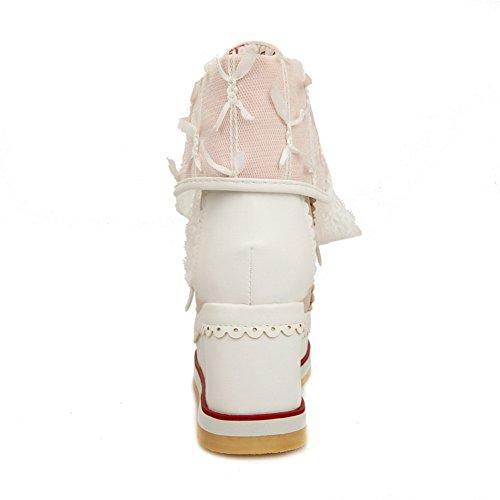 1to9mns01974 - Sandales Compensées Roses Pour Femmes