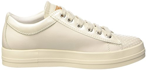 Geox D Hidence B, Low-Top Chaussures femme Blanc (Off Blanc)