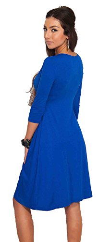 U-shot -  Vestito  - linea ad a - Maniche a 3/4 - Donna Royal Blue