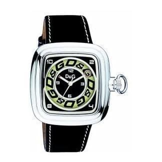 D&G Dolce&Gabbana D&G Cherokee – Reloj analógico de caballero de cuarzo con correa de piel negra