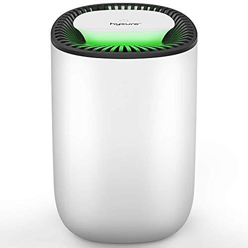 Deshumidificador compacto y portátil, 600 ml, deshumidificador silencioso, deshumidificador en la cocina...
