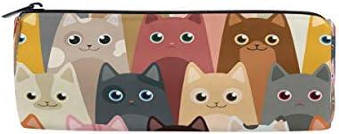 Bonipe coloré Hipster Chats Motif Trousse Pochette Pochette Pochette Sac d'école papeterie Pen Box Zipper Cosmétique Sac de maquillage | Sale  93f43a