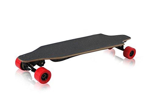 B-noble Longboard Skateboard eléctrica portátil 1200W 8Ah polímero batería de iones de litio, rojo
