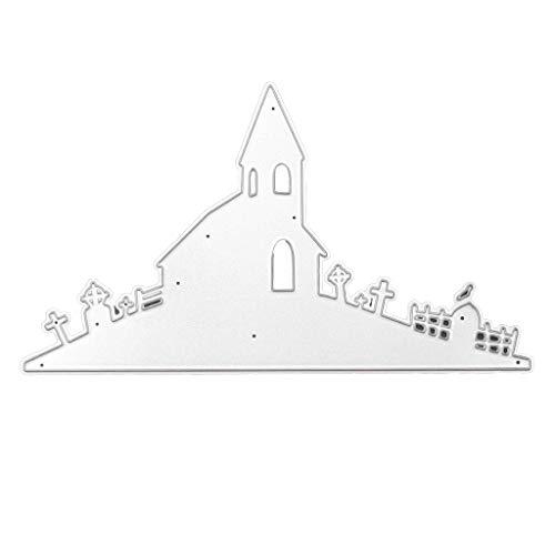 Lifet Halloween Metall Stanzformen Haus, Schablone DIY Scrapbooking Album Schneiden Schablonen Papier Karten Sammelalbum Deko