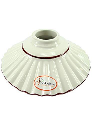 Ersatz-Lampenschirm für Lampen aus Keramik, Messing und Eisen,  mit braunem Rand im Liberty-Stil,...
