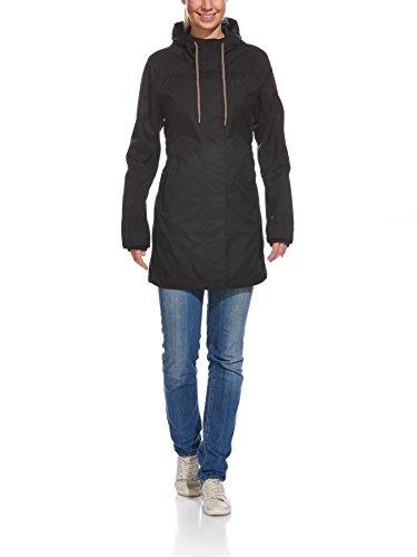 Tatonka Damen Mantel Bandra Womens Coat Black, 42 - Geformte Rv-kordel