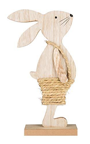 Dekofigur Hase aus Holz, ca. 41 cm groß
