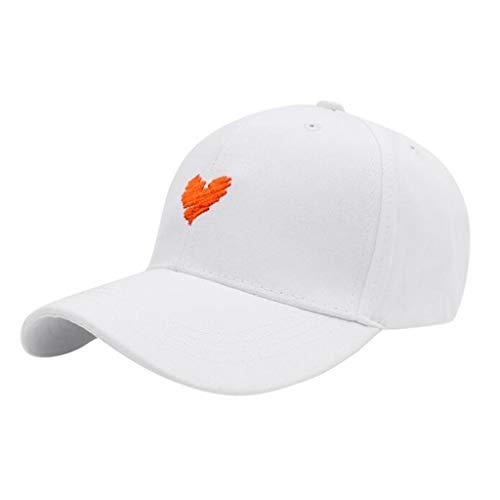 Die Baseballmütze der DWQuee-Frauen Mens, Unisexmode-Liebes-Stickerei-Sommer-Sonne-Fischen-Hut-Kappe Breathable Vati-Hut (Plain Sonne Hut)