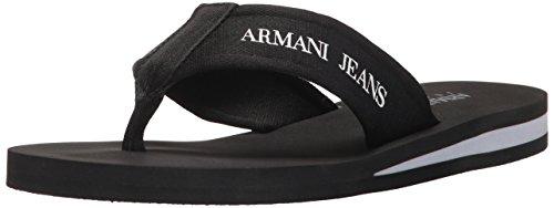 Armani Jeans 9350937p447, Tongs homme Noir