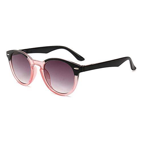 GEMSeven Unisex Getönte Sonnenbrille Runde Vintage Grau Verlaufende Linse Anti-uv-presbyopie-brillen