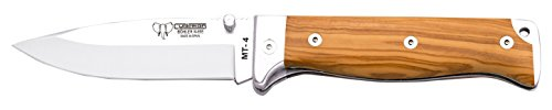 Cudeman Survival Taschenmesser Satin Olivenholz, Klingenlänge: 10 cm, CUDM-1432 -