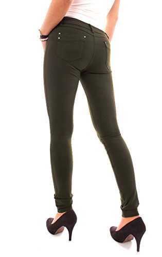 Easy Young Fashion Damen Jeggings Miss Anna Khaki