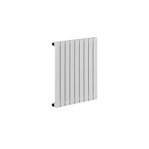 31fDNbd8R L. SS500  - Single Panel White Vertical Flat Tube Radiator 600x600mm 1535BTU
