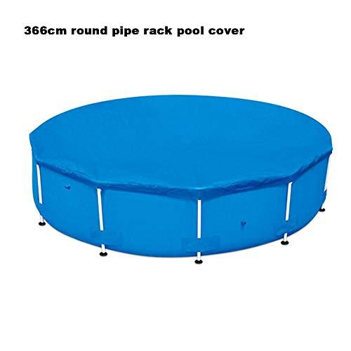 KEIBODETRD Aufblasbare Faltbare quadratische Grundtuch runde Poolabdeckung für Schwimmbäder Farbe Blau