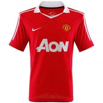 Nike Junior Manchester United Home in Jersey a maniche corte 2010/2011