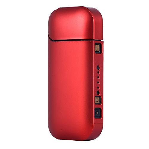 Portasigarette per IQOS sigaretta elettronica, ZHIKE copertura dura di protezione del PC impermeabile un pezzo di guscio duro (Rosso)