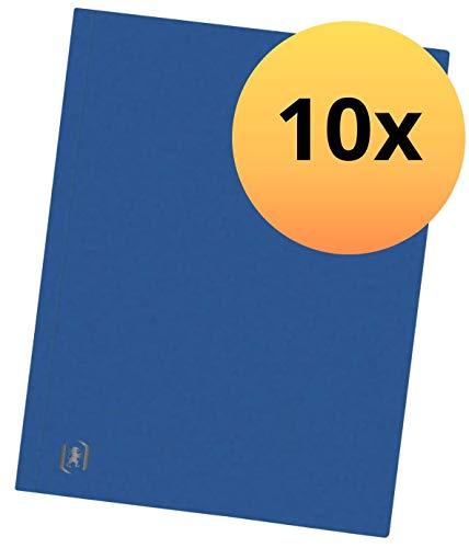 Oxford 400115267 Aktendeckel Top File+ 10er Pack Akten-Umschlag extrastark aus 390g Karton In Blau
