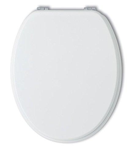 Kiamami Valentina KVSTORE Sedile WC Universale Bianco COPRIWATER in Legno Laccato