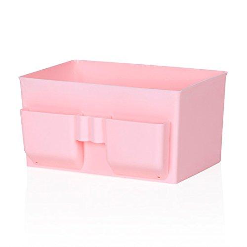 WEIAIXX Kunststoff Kosmetik Remote Kontrolle Lagerung Abendkasse Kommode Desktop-Speicher Hautpflege Schlichten Box Rosa