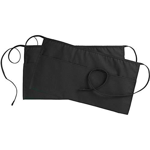 Kiccoly 2 pezzi/pacco grembiule mezzo nero grembiuli corto grembiule cameriere grembiuli cameriera grembiule per la cucina di casa ristorante lavoro