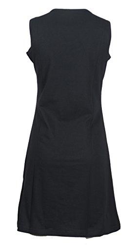 Robe sans manches Soirée des femmes Avec broderie florale Black