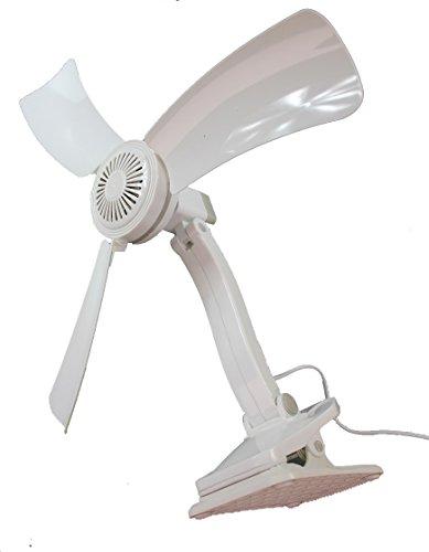 Obere Gebläse (Tischventilator Standventilator mit Fuß und Klemme Ø42 cm / verstelbar / 360 Grad drehbar / 5 Watt)