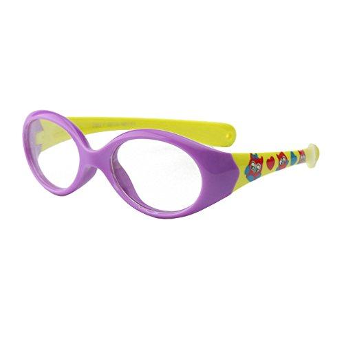 Hibote Mädchen Junge Brillen - Silikon - Clear Lens Glasses Frame Geek/Nerd Brillen mit Car Shape Gläser Fall - 18071009
